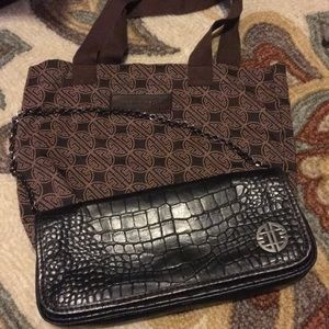 EUC Antonio Melani black clutch